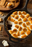 Homemade S'mores Dip with Graham Crackers Royalty Free Stock Image