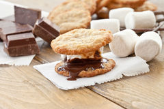 Homemade S'mores royalty free stock images