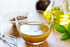 Homemade salad dressing Royalty Free Stock Image