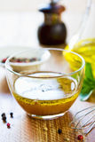 Homemade salad dressing Stock Photography