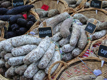 Homemade salami Stock Image