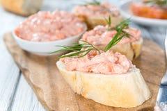 Homemade Salmon Salad Stock Image