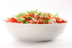 Homemade Salsa,. Homemade Pico De Gallo Salsa in white background Royalty Free Stock Image