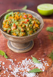Homemade Salsa Sauce in a Bowl Royalty Free Stock Photography