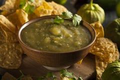 Homemade Salsa Verde with Cilantro Stock Photos