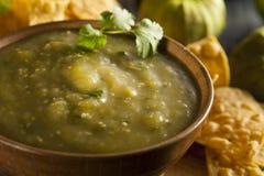 Homemade Salsa Verde with Cilantro Stock Photography