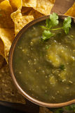 Homemade Salsa Verde with Cilantro Royalty Free Stock Photography