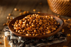 Homemade Salted Soy Nuts Stock Image