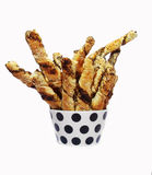 Homemade salty bread sticks Stock Image