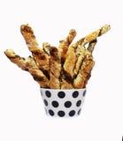 Homemade salty bread sticks Stock Image