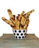 Homemade salty bread sticks Stock Photos