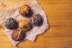 Homemade salty muffins, also called proja pie royalty free stock photography
