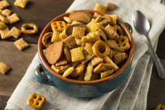Homemade Salty Snack Party Mix Royalty Free Stock Photo