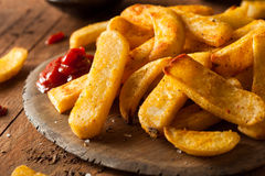 Homemade Salty Steak French Fries Royalty Free Stock Image