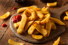Homemade Salty Steak French Fries Royalty Free Stock Images