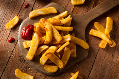 Homemade Salty Steak French Fries Royalty Free Stock Photo