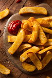 Homemade Salty Steak French Fries Royalty Free Stock Photos