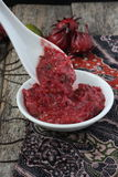 Homemade sambal with roselle Royalty Free Stock Image