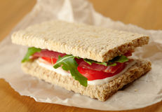 Homemade sandwich with bacon Royalty Free Stock Images
