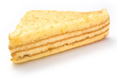 Homemade sandwich shape sponge cake Royalty Free Stock Image