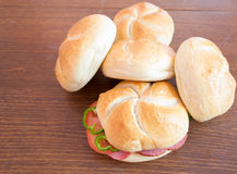 Homemade sandwiches Stock Image