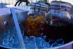 Homemade sangria royalty free stock images