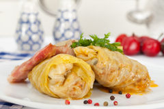 Homemade sarma. Stuffed cabbage rolls Stock Images