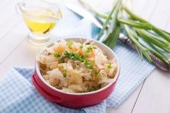 Homemade sauerkraut Stock Photography