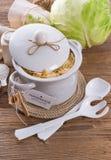 Homemade sauerkraut Stock Images
