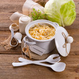 Homemade sauerkraut Royalty Free Stock Images