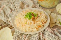 Homemade sauerkraut salad Royalty Free Stock Images