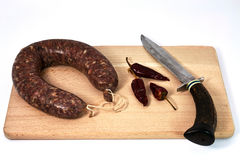 Homemade sausage Royalty Free Stock Images