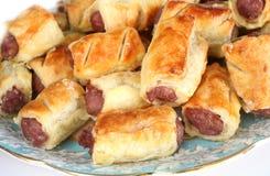 Homemade sausage rolls Stock Image