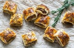 Homemade sausage rolls Stock Photos