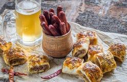 Homemade sausage rolls Stock Photography