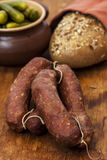 Homemade sausages Royalty Free Stock Photography