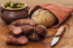Homemade sausages Royalty Free Stock Photos