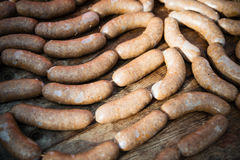 Homemade sausages Royalty Free Stock Images