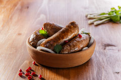 Homemade sausages grilled Royalty Free Stock Photo
