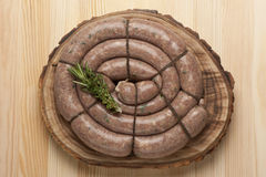 Homemade sausages Royalty Free Stock Image