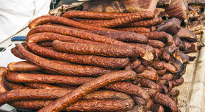 Homemade sausages Royalty Free Stock Photo