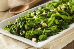 Homemade Sauteed Green Broccoli Rabe Stock Image