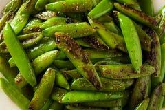Homemade Sauteed Sugar Snap Peas Stock Photo