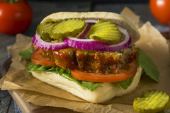 Homemade Savory Meatloaf Sandwich Stock Photo
