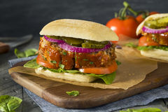 Homemade Savory Meatloaf Sandwich Royalty Free Stock Photography