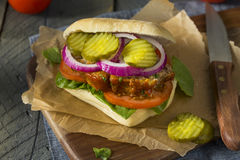 Homemade Savory Meatloaf Sandwich Royalty Free Stock Image