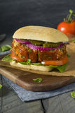 Homemade Savory Meatloaf Sandwich Stock Photos