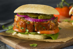 Homemade Savory Meatloaf Sandwich. With Lettuce and Tomato Royalty Free Stock Photography