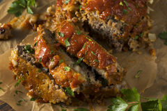 Homemade Savory Spiced Meatloaf Stock Photography