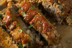 Homemade Savory Spiced Meatloaf Royalty Free Stock Photo